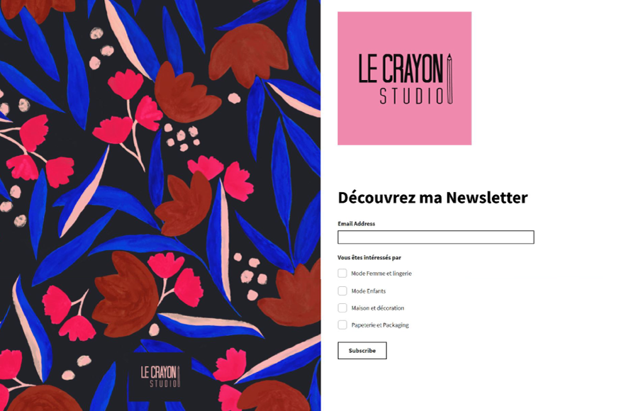 NEWSLETTER_LE_CRAYON_STUDIO_PATTERN